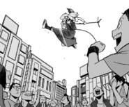 Kazuho performs a show in the streets