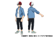 Shoto Todoroki Casual TV Animation Design Sheet