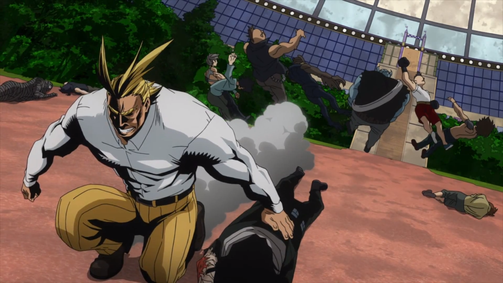 Toshinori Yagi & U.A. Students vs. League of Villains