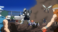 Tenya and Yuga are surrounded by opponents