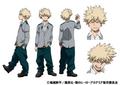 Katsuki Bakugo TV Animation Design Sheet