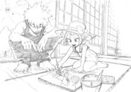 Katsuki and Mahoro Sketch