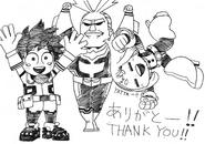 Boceto - Horikoshi agradece por los saludos de su cumpleaños