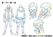 Kai Chisaki Shading TV Animation Design Sheet