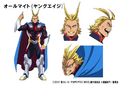 Young All Might Movie Animation Design Sheet