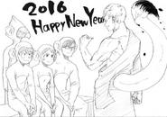 Boceto - Feliz Año nuevo 2016