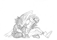 Fumikage and Hawks Sketch