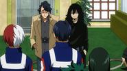 Shota Aizawa introduces Taneo Tokuda to Class 1-A