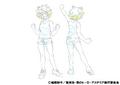 Mina Ashido Casual Shading TV Animation Design Sheet