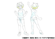 Mina Ashido Casual Shading TV Animation Design Sheet