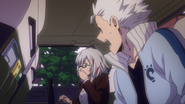 Fuyumi and Natsuo watching the fight in horror