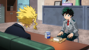 Izuku tells All Might about the dream he had