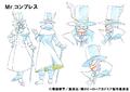 Mr. Compress Shading TV Animation Design Sheet