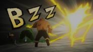 Hiryu saves Jurota from Denki's attack