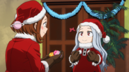 Ochaco and Eri dressed as Santa