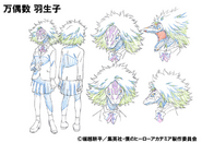 Habuko Mongoose Shading OVA Animation Design Sheet