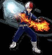 Shoto Todoroki My Hero One Justice 2 Diseño