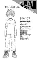 Izuku Midoriya perfil Vol1
