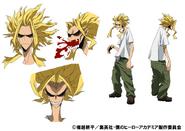 Toshinori Yagi TV Animation Design Sheet