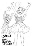 Boceto - Deku y Melissa celebrando por la taquilla de la película