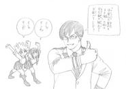 Tenya, Tsuyu and Mina Sketch