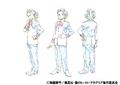 Yuga Aoyama Uniform Shading TV Animation Design Sheet