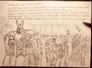Boceto - Horikoshi agradiciendo a los fans que asistieron a la SD Comic Con 2018