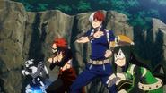 Tenya, Eijiro, Shoto and Tsuyu ready to face Chimera