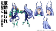 Nejire Hado Hero Costume TV Animation Design Sheet