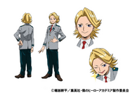 Yuga Aoyama Uniform TV Animation Design Sheet