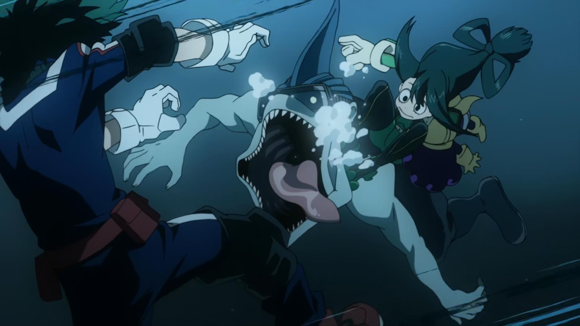 Izuku Midoriya, Tsuyu Asui & Minoru Mineta vs. Villains