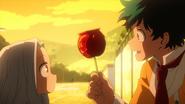 Izuku gives Eri a sweet apple