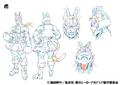 Tiger Shading TV Animation Design Sheet