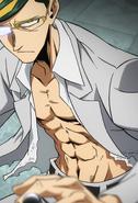 Sir Nighteye is lean and muscular