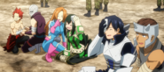 Tenya, Tsuyu and Eijiro receive treatment for their injuries