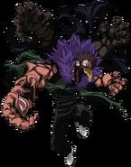 Obra de arte de la forma fusionada de Overhaul de My Hero One's Justice 2