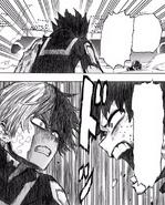 Izuku tells Shoto his power is his own