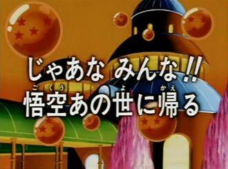 Adéu-siau a tots! En Goku se'n torna a l'Altre Món