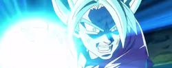 En Goku carregant l'atac