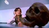 Dr. Temperance Brennan is detained by Homeland Security for carrying a human skull in her bag.