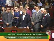 Bones - David Boreanaz & Emily Deschanel at the LA City Council Presentation - Part2