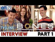 """Bones"" Set Visit- Season 9 Scoop, David Boreanaz, Emily Deschanel, Booth Brennan Wedding? Part 1"