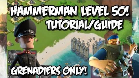 How To Beat Hammerman's HQ Level 50! - ONLY GRENADIERS!!! Boom Beach Grenadier Attack Strategy