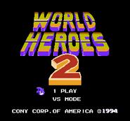 World Heroes 2 titlescreen