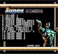 Ultimate Famicom Remix 154-in-1 Menu