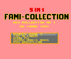 5-in-1 Fami-Collection - Title screen.png