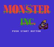 Monsters, Inc. (Famicom) Title screen