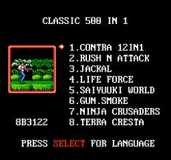 Classic Games 500-in-1 Menu.png