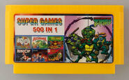 Super Games 500-in-1 Famicom cartridge