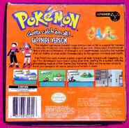 Pokemon Sapphire box back